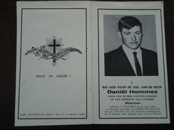 Daniël Hommez - Colpaert Geboren Te Vladslo 1946 Overleden Te Dilbruck-Keulen 1967    (2scans) - Godsdienst & Esoterisme
