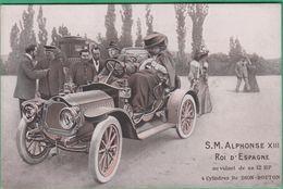 Automobile - S.M Alphonse XIII Roi D'Espagne Au Volant De Sa 12 HP 4 Cylindres De Dion Bouton - Passenger Cars