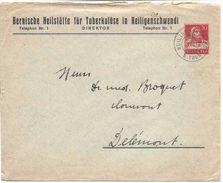 BERNISCHE HEILSTÄTTE FÜR TUBERKULÖSE IN HEILIGENSCHWENDI , Lettre Entier Postal 1917, BUSTE DE TELL 20 Cent.Thème Santé - Interi Postali