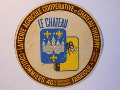 A-02103 - Etiquette De Fromage COULOMMIERS LE CHATEAU - Fromagerie De CHATEAU-THIERRY à CHIERRY - Aisne 02 - Cheese