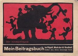 Beitragsbuch - Kinderfreund Päpstl. Werk Der Hl. Kindheit - Komplett Mit 12 Marken - Scherenschnitt Tiere Kinder (31342) - Sammlungen
