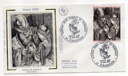 1983--FDC  Soie --Contes De Perrault -Gustave Doré-- (Barbe Bleue ) ---  Cachet  STRASBOURG --67 - FDC