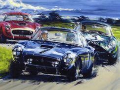Tourist Trophy Goodwood  -  Stirling Moss  -  Ferrari 250GT - Plaque Métal 20 X 15 Cms  -  Neuf! - Advertising (Porcelain) Signs