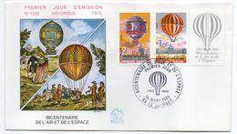 1983--FDC   -Bicentenaire De L'air Et De L'espace (Ballon,Montgolfière) N° 1320- 1 Seul Cachet  LE BOURGET--93 - FDC