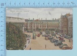 Dublin - Trinity College, Animated Old Car, Used In 1959, Postmark Difteria Is.., Send To Canada - Dublin