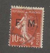 FRANCE - FRANCHISE MILITAIRE N°YT 5 OBLITERE - COTE YT : 1€ - 1906/07 - Franquicia Militar (Sellos)