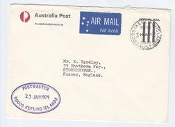 1979  OFFICIAL Mail POSTAL STATIONERY COVER Postmaster COCOS KEELING ISLANDS Stamps Australia - Cocos (Keeling) Islands