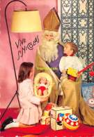 CPSM PERE NOEL  SEMI MODERN SANTA CLAUS  CHRISTMAS  KERSTMAN SINTERKLAAS SAINT NICOLAS SAINT NICOLSON - Santa Claus
