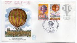 1983--FDC -Bicentenaire De L'air Et De L'espace (Ballon ) N°1321 - 1 Seul  Cachet  LE BOURGET--93 - FDC
