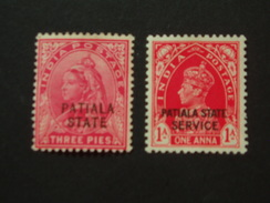 PAIR OF MINT MOUNTED STAMPS - Patiala