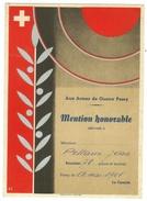 Militaire // Mention Honorable De Tir à Pomy (Vaud,Suisse) - Vieux Papiers