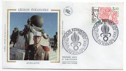 1984--FDC Soie -Légion Etrangère (armée) - Cachet  AUBAGNE - 13 - FDC