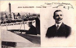 1 CPA Aviateur Belge  Jean Jan Olieslagers Gesigneerd Signature  C1910 Signed Real Autograph Handtekening Autogramm RARE - Aviateurs