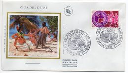 1984--FDC Soie -   Guadeloupe- Folklore,danse  Cachet  POINTE A PITRE --971 - FDC