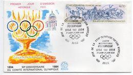 1984--FDC  - 23ème Jeux Olympiques -- LOS ANGELES--90° Anniv CIO-- Cachet  PARIS -75 - FDC