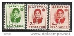 BULGARIA \ BULGARIE ~ 1937 - Effigie De La Princesse Marie-Louise - 3v.** - Nuevos