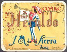 1559 - Espagne - Andalousie - Coñac Heraldo - J.M. De La Sierra - Jerez - Etiquettes