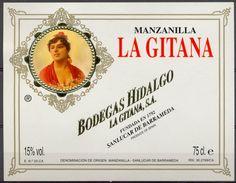 1561 - Espagne - Andalousie - Manzanilla - La Gitana - Bodegas Hidalgo - Sanluccar De Barrameda - Etiquettes