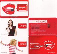 LOTE 5 TARJETAS GSM SIMPEL - Tarjetas Telefónicas