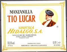 1563 - Espagne - Andalousie - Manzanilla Tio Lucar - Vinicola Hidalgo S.A. - Sanluccar De Barrameda - Etiquettes