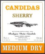 1566 - Espagne - Andalousie - Sherry Candidas - Bodegas Doña Cándida - Sanluccar De Barrameda - Etiquettes
