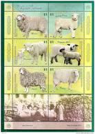 FAUNA - SHEEPS - VF ARGENTINA 2009 SHEET - FEUILLET - MINT (NH) - Ferme
