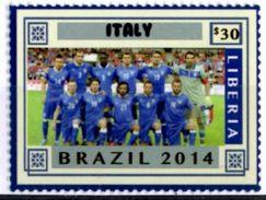 LIBERIA 2014 MNH 1v Brazil World Cup Football Championship Italy Team Italia Futbol Soccer Calcio Fußball - 2014 – Brasile