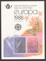 1988  Europa   Feuillet De Luxe  COB 2283-4  LX77 - Libretti Di Lusso