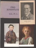 1924  Cartes Pro Juventute  Tableaux De A. Anker Série Complète - Emballage Original-  Biographie Anker - Switzerland