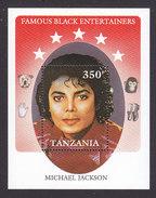 Tanzania, Scott #589, Mint Never Hinged, Michael Jackson, Issued 1990 - Tanzania (1964-...)