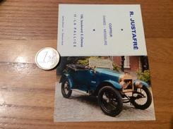 Calendrier 1970 «Coiffeur R. JUSTAFRÉ LA PALLICE (17) / PONETTE 1920 8 CV (voiture Ancienne)» - Calendriers