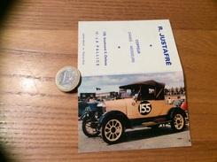 Calendrier 1970 «Coiffeur R. JUSTAFRÉ LA PALLICE (17) / MORRIS-COWLEY 1926 (voiture Ancienne)» - Calendars