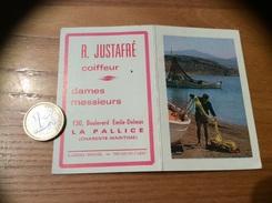 Calendrier 1966 «Coiffeur R. JUSTAFRÉ LA PALLICE (17) / LARRIEU-BONNEL (pêcheur, Bateau)» - Calendriers