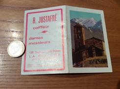 Calendrier 1966 «Coiffeur R. JUSTAFRÉ LA PALLICE (17) / LARRIEU-BONNEL (montagne, église)» - Calendars