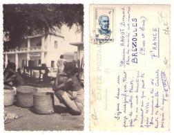 (Madagascar) 062, Carte Photo, Vue Sur Magasin Lav Kin Long & Cie, Timbre Timbres Stamps Cachet Tananarive - Madagascar