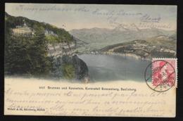BRUNNEN SZ Axenstein Kuranstalt SONNENBERG Seelisberg Stans 1908 - SZ Schwyz