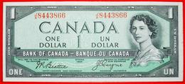 √ DEVIL'S FACE: CANADA ★ 1 DOLLAR 1954 J.R. Beattie - James E. Coyne! LOW START ★  NO RESERVE! - Canada