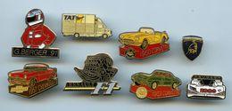 PINS - PIN'S -LOT DE 15 PIN'S  AUTOMOBILE -VOITURE-RALLYE-FORMULE 1 -ROVER-LAMBORGHINI-CORVETTE-CITROEN-RENAULT-PEUGEOT - Pin's