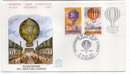 1983--FDC -Bicentenaire De L'air Et De L'espace (Ballon,Montgolfière) N°1319 --1 Seul Cachet  LE BOURGET--93 - FDC