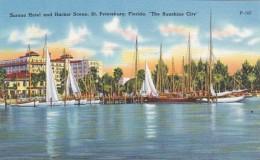 Florida St Petersburg The Soreno Hotel and Harbor Scene