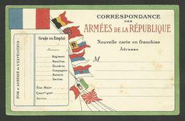 """Carte FM / 7 Drapeaux """" Armées De La République """" - Oorlog 1914-18"""