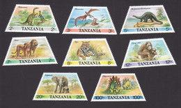 Tanzania, Scott #382-389, Mint Hinged, Animals, Issued 1988 - Tanzania (1964-...)