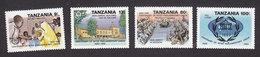 Tanzania, Scott #535-538, Mint Hinged, Inter-Parliamentary Union Cent, Issued 1989 - Tanzania (1964-...)