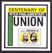 Tanzania, Scott #539, Mint Never Hinged, Inter-Parliamentary Union, Issued 1989 - Tanzania (1964-...)
