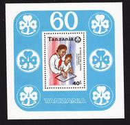 Tanzania, Scott #569, Mint Never Hinged, Girl Guides, Issued 1990 - Tanzanie (1964-...)