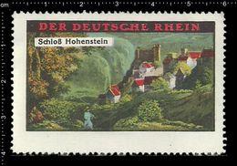 German Poster Stamps, Reklamemarke, Cinderellas, Castle, Schloss, Burg, Kastell, Rhine, Rhein, Hohenstein - Kastelen