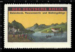 German Poster Stamps, Reklamemarke, Cinderellas, Rhine, Rhein, City View, Stadtblick, Rolandseck, Nonnenwerth - Erinnofilia