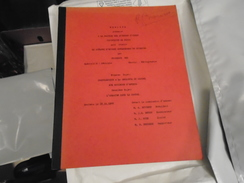 """CONTRIBUTION A LA GEOLOGIE DU CANTAL AUX ENVIRONS D'APCHON  + Un Deuxième  Sujet De 13 Pages """" L'URANIUM DANS LE CANTAL - Auvergne"""