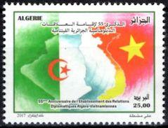 ALGERIA 2017 1v Mint 55th Anniv. Vietnam Algeria Relations Kỷ Niệm 55 Năm Việt Nam - Quan Hệ Ngoại Giao Của Algeria - Timbres