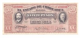 Mexico - 20 Peso 1915 UNC (Chihuahua) - Mexico